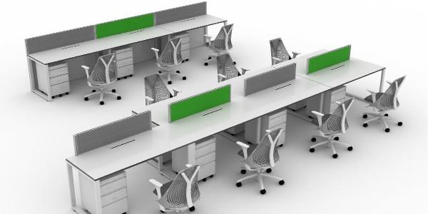 板式办公家具如此设计也很自然美