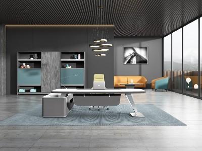 CEO办公桌-实木大班台